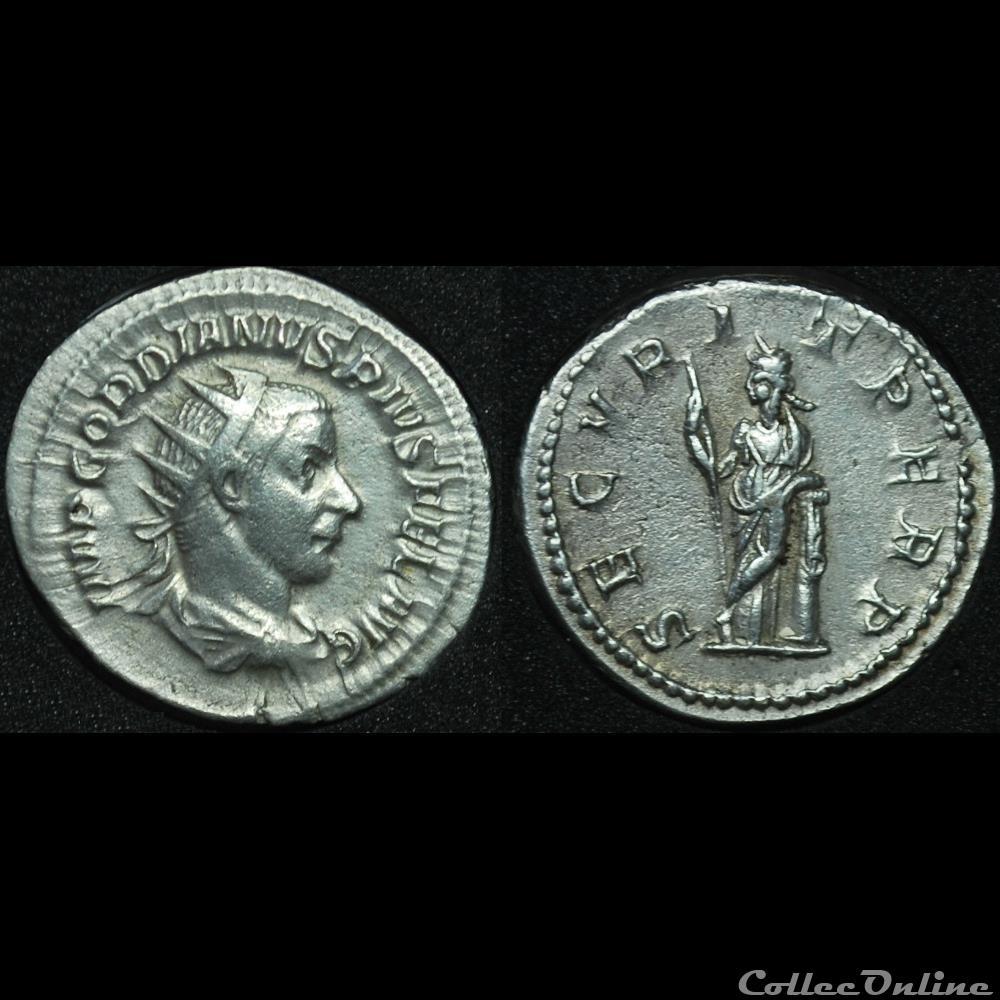 monnaie antique romaine antoninien gordien iii secvrit perp