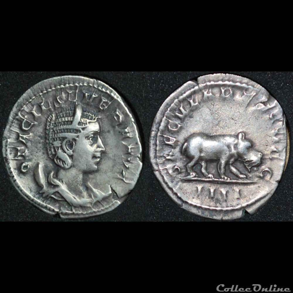 monnaie antique romaine antoninien otacilia saecvlares avgg iiii