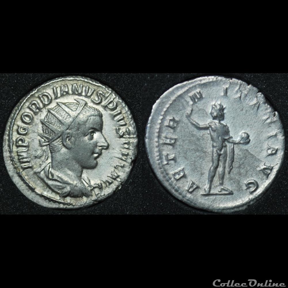 monnaie antique romaine antoninien gordien iii aeter nitati avg