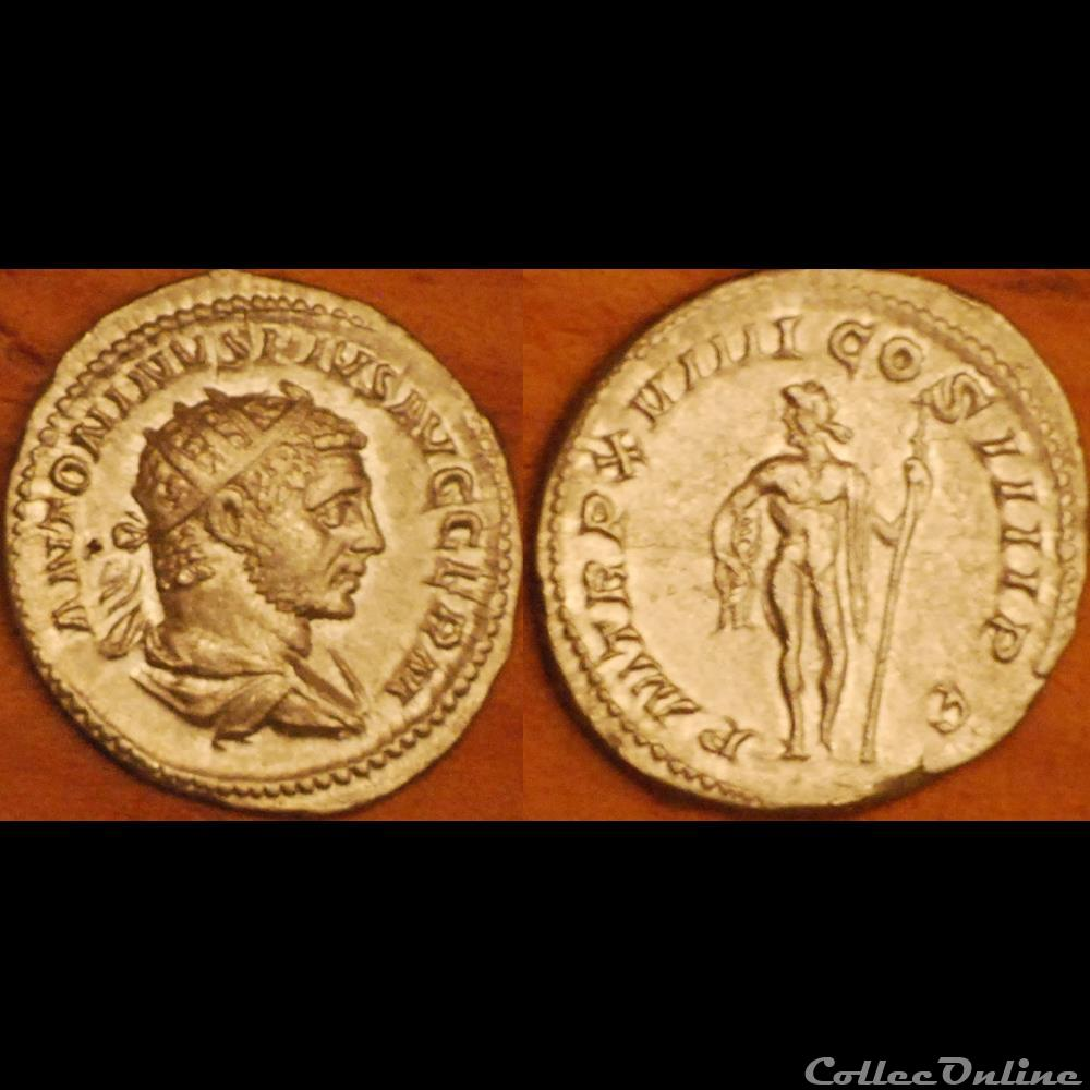 monnaie antique romaine antoninien pm trp xviiii cos iiii pp