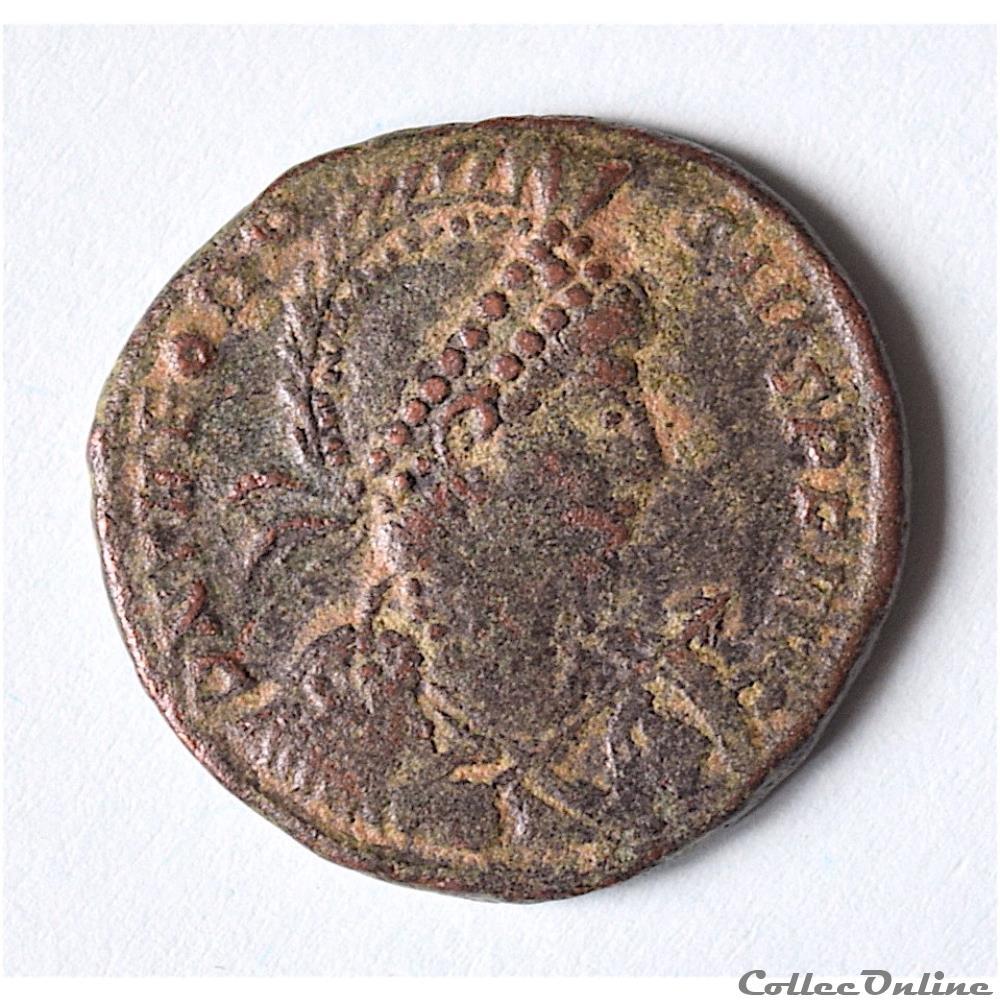 monnaie antique romaine theodose ier le grand 379 395 maiorina constantinople