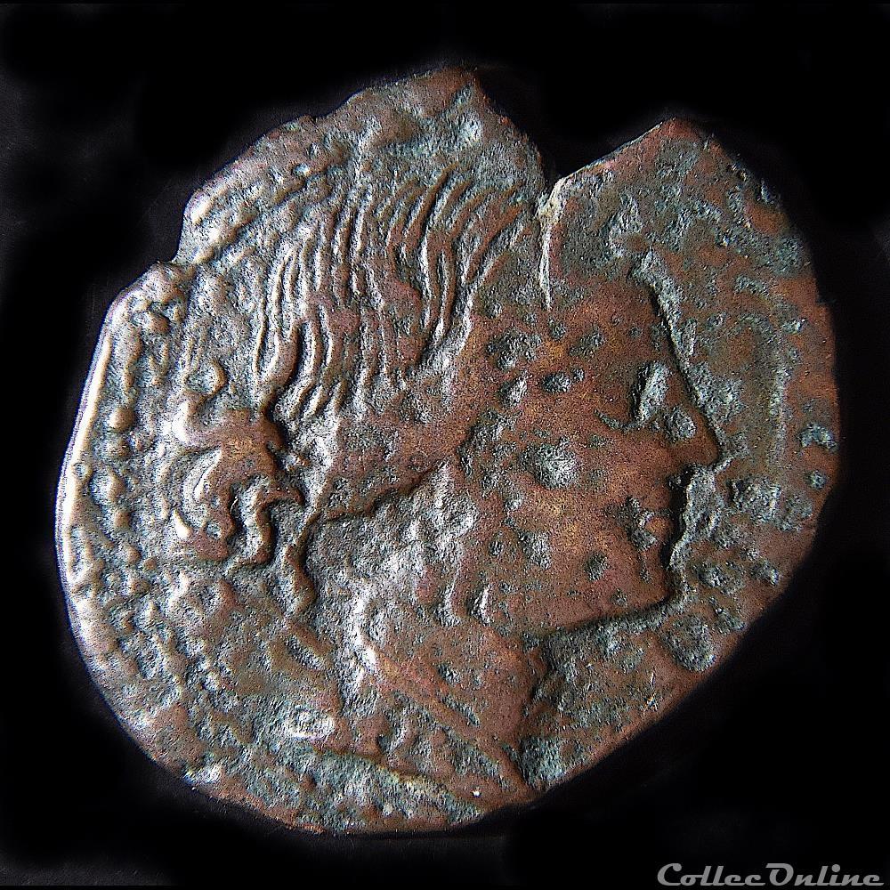monnaie antique grecque bruttium rhegion vers 260 215 av bronze artemis a la lyre