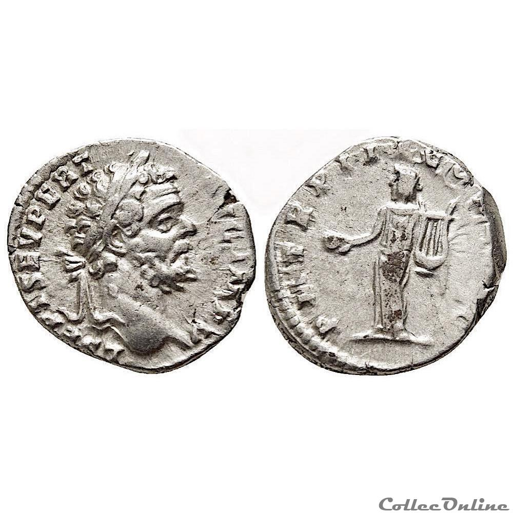 monnaie antique av jc a ap romaine septime severe 193 211 rome denier