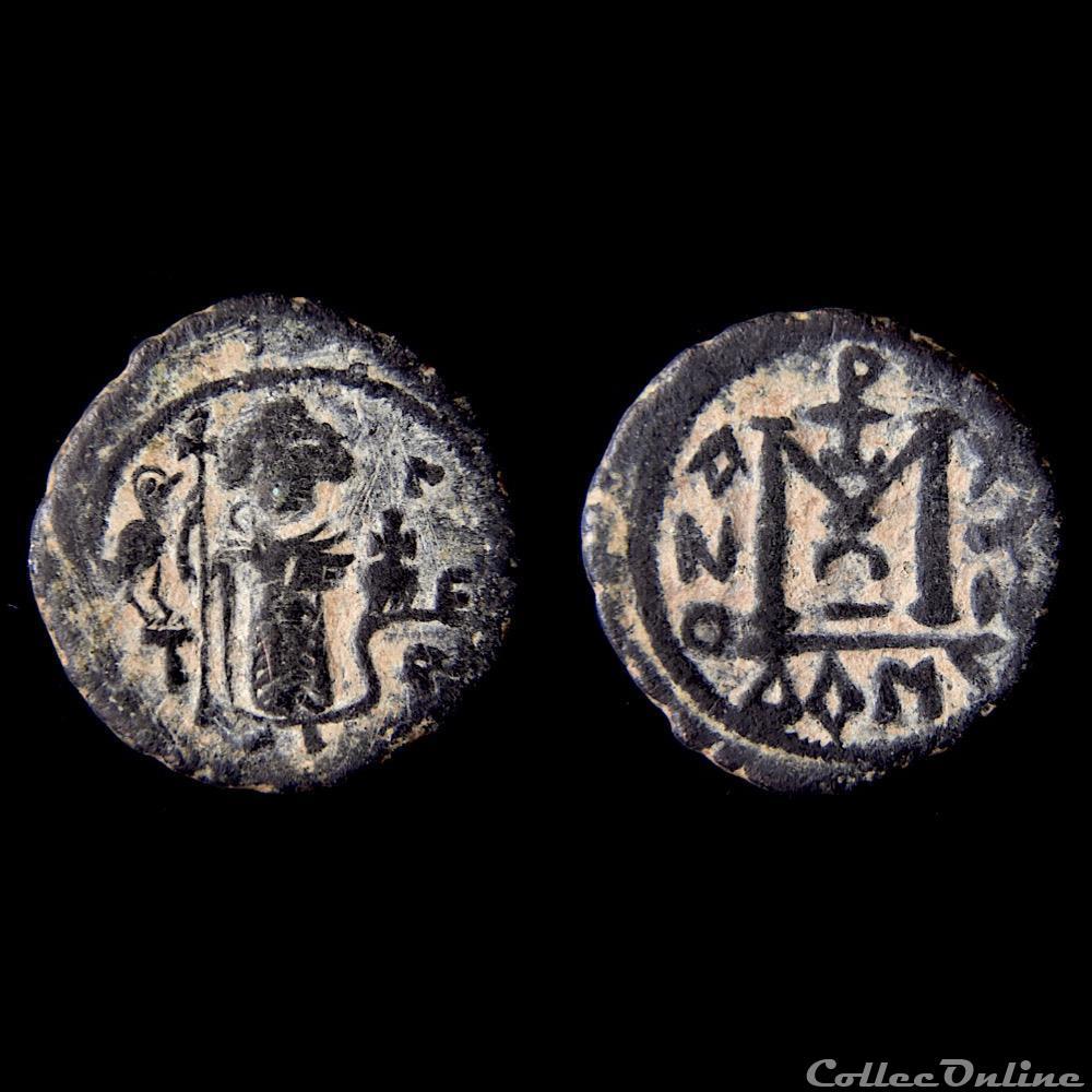 monnaie antique av jc ap autre califat m awiya empereur debout 660 680 ad dimashq walker 8