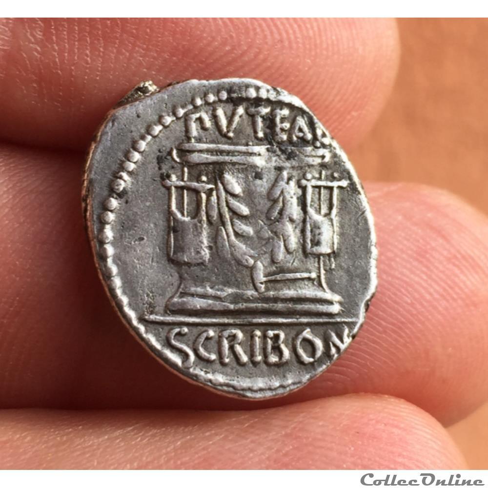 monnaie antique jc ap romaine denier l scribonius libo 62 av atelier de rome