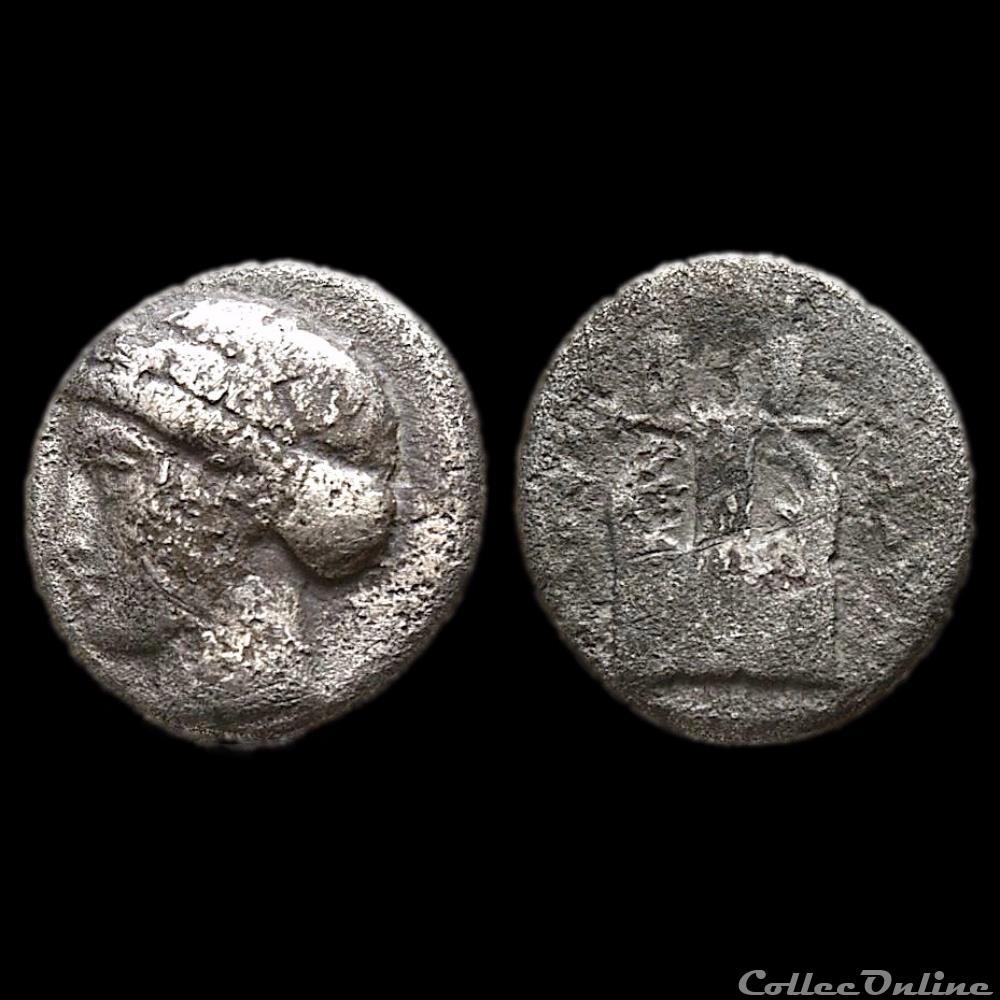 monnaie antique grecque ionia kolophon bc 375 360 diobole