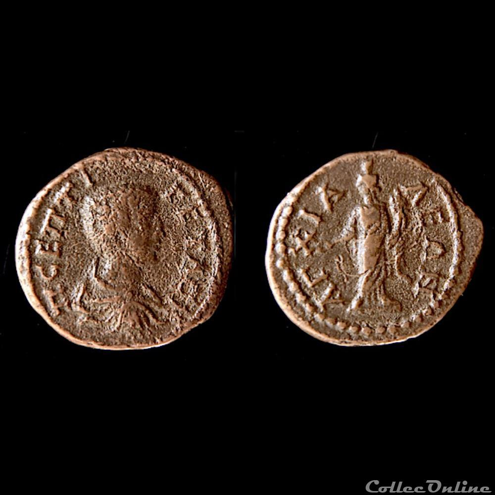 monnaie antique av jc ap romaine provinciale thrace anchialos geta as assarion caesar ad 197 209