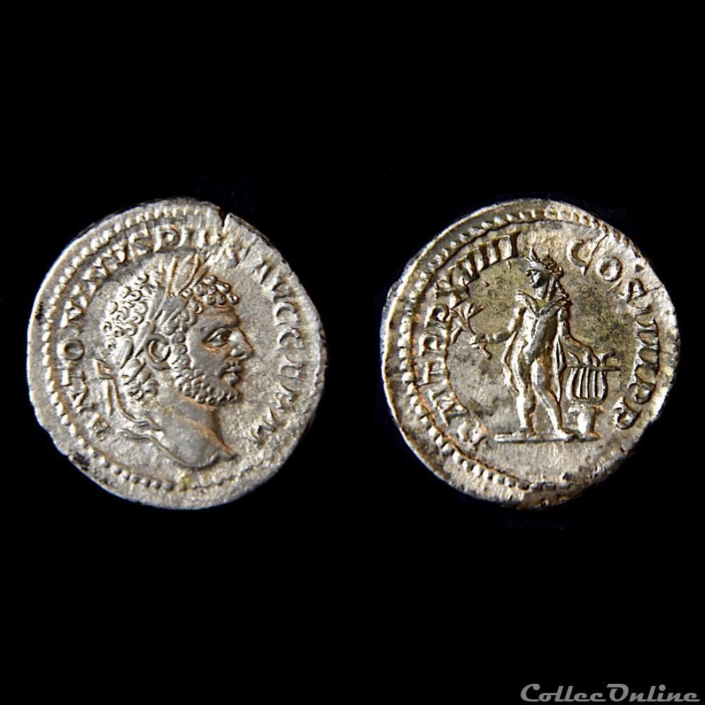 monnaie antique av jc ap romaine caracalla denier 215 a d atelier de rome ric 254