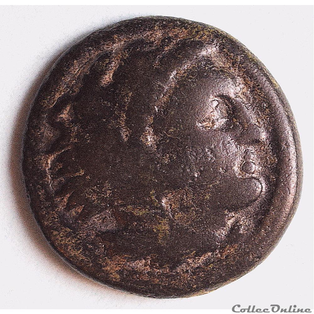 monnaie antique grecque alexandre iii le grand bronze heracles 336 323 av j c
