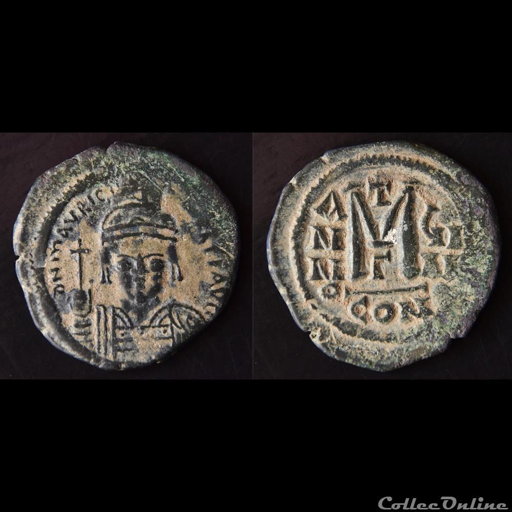 monnaie antique byzantine maurice tibere emis a constantinople g anno c 587 588 follis sear 493
