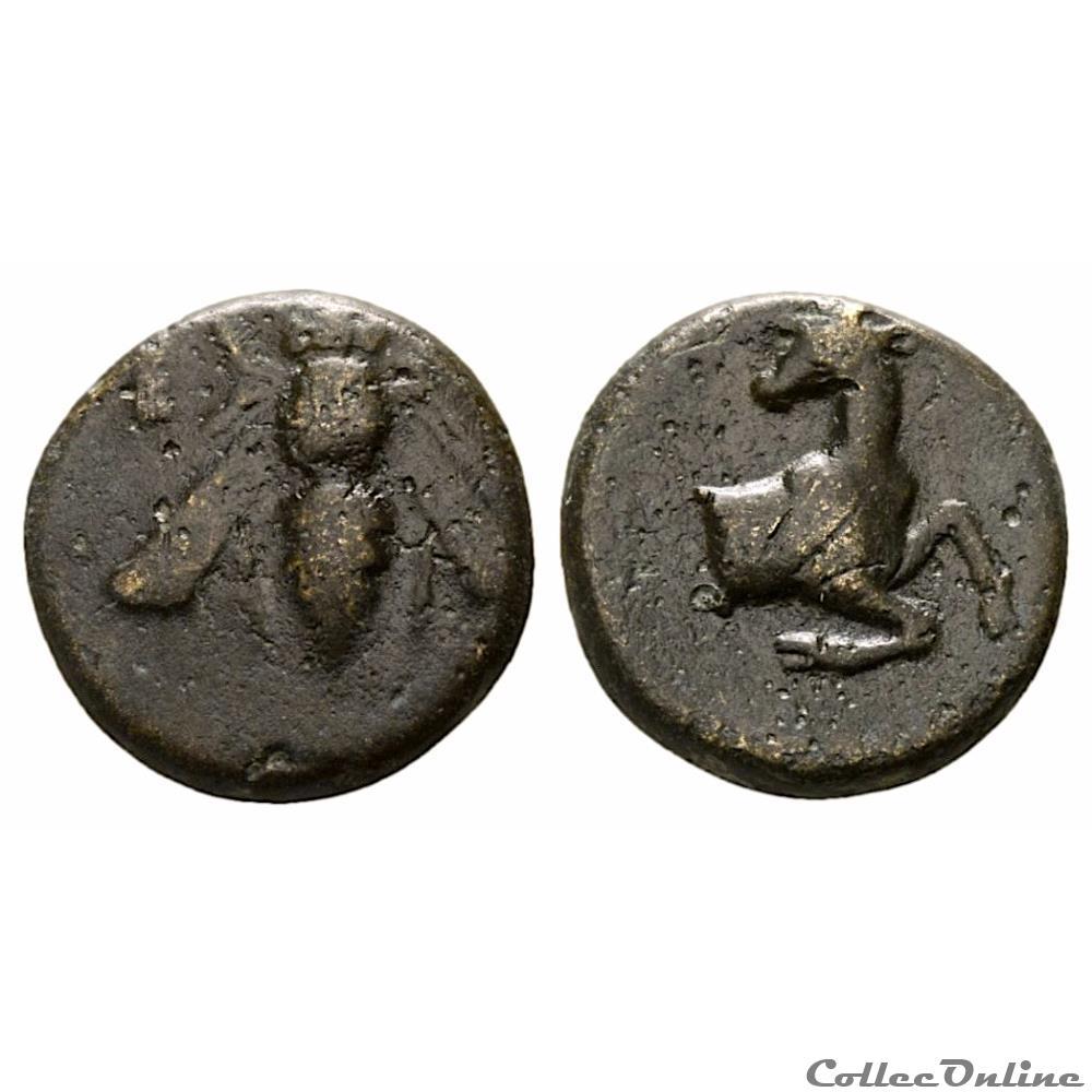 monnaie antique grecque ionie ephese ae bronze a abeille et cervide iiieme s av j c