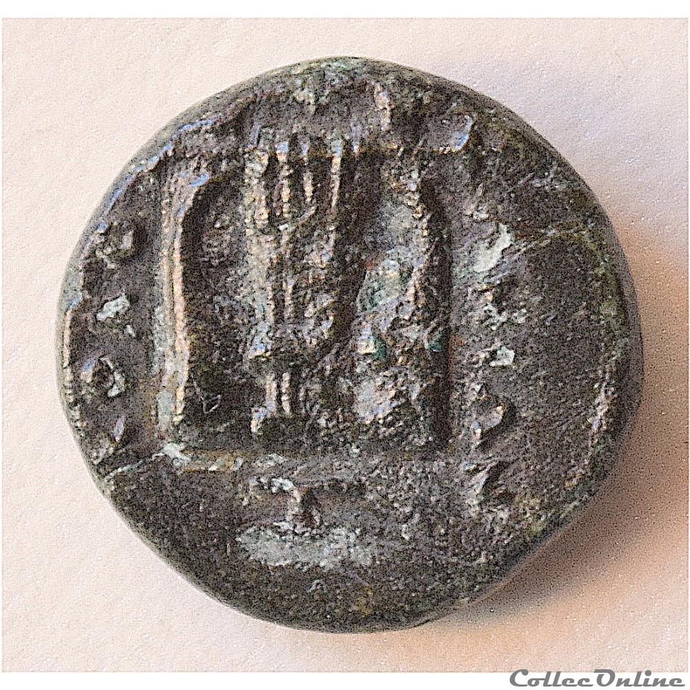 monnaie antique grecque ionia kolophon bc 375 330 ae 10 apollon a la lyre