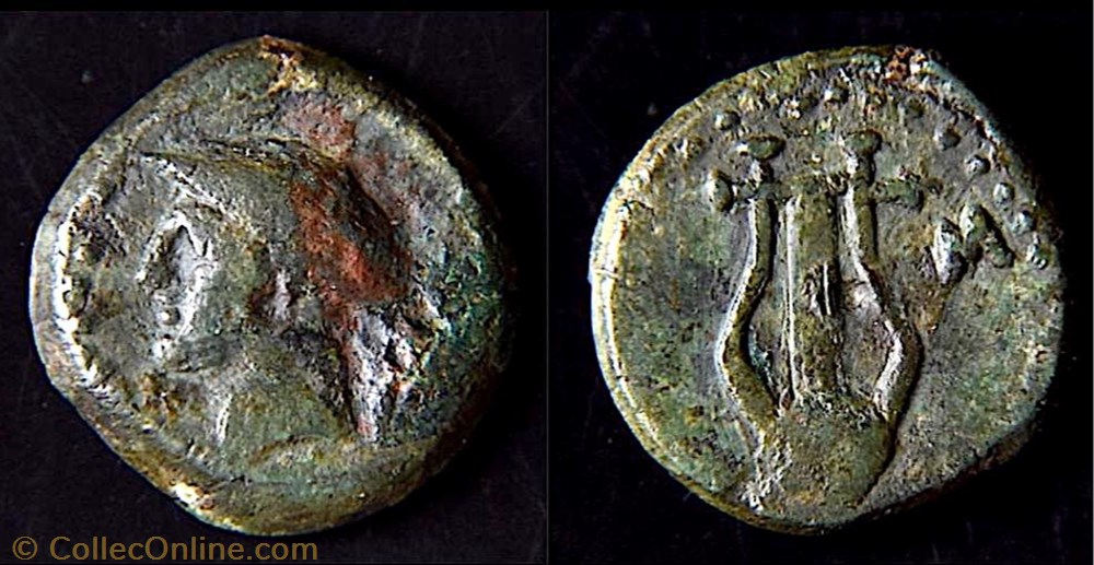 monnaie antique av jc ap grecque thracian chersonese sestos circa 150 100 bc