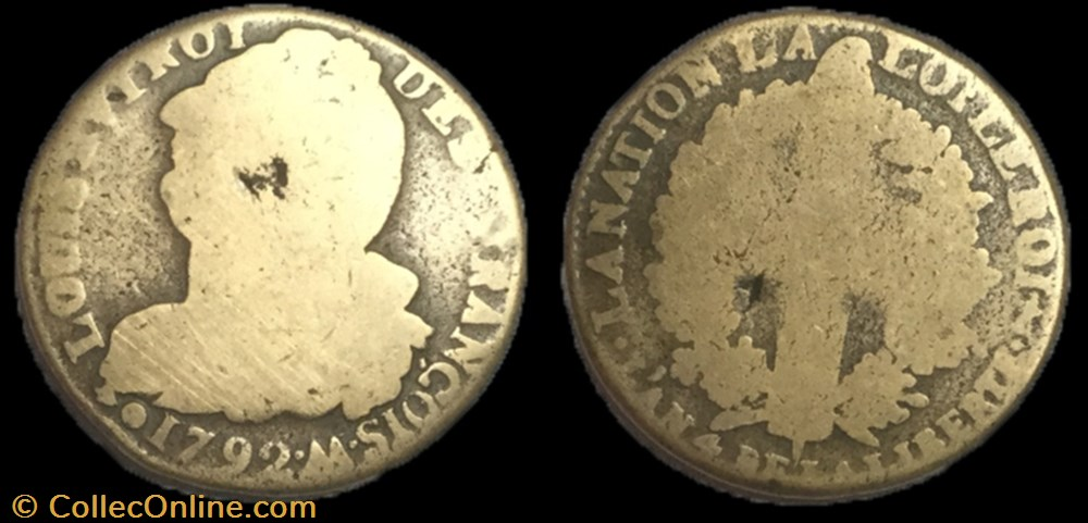 monnaie france moderne 2 sols dit au faisceau 1793 m