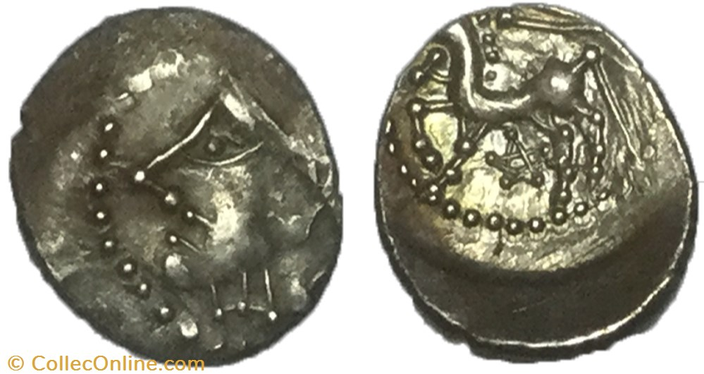 monnaie antique av jc ap gauloise quinaire