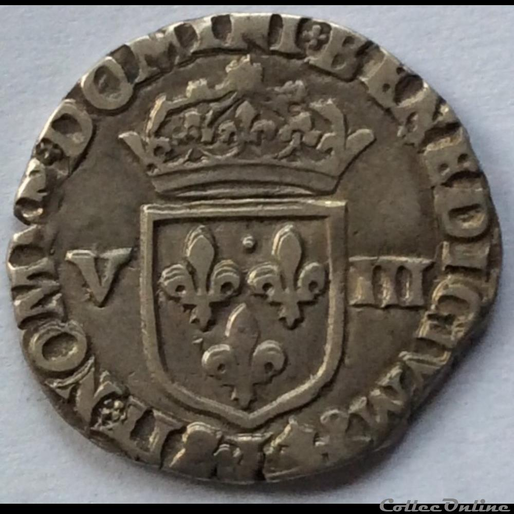 monnaie france royale huitieme d ecu henri iiii 1590 l bayonne