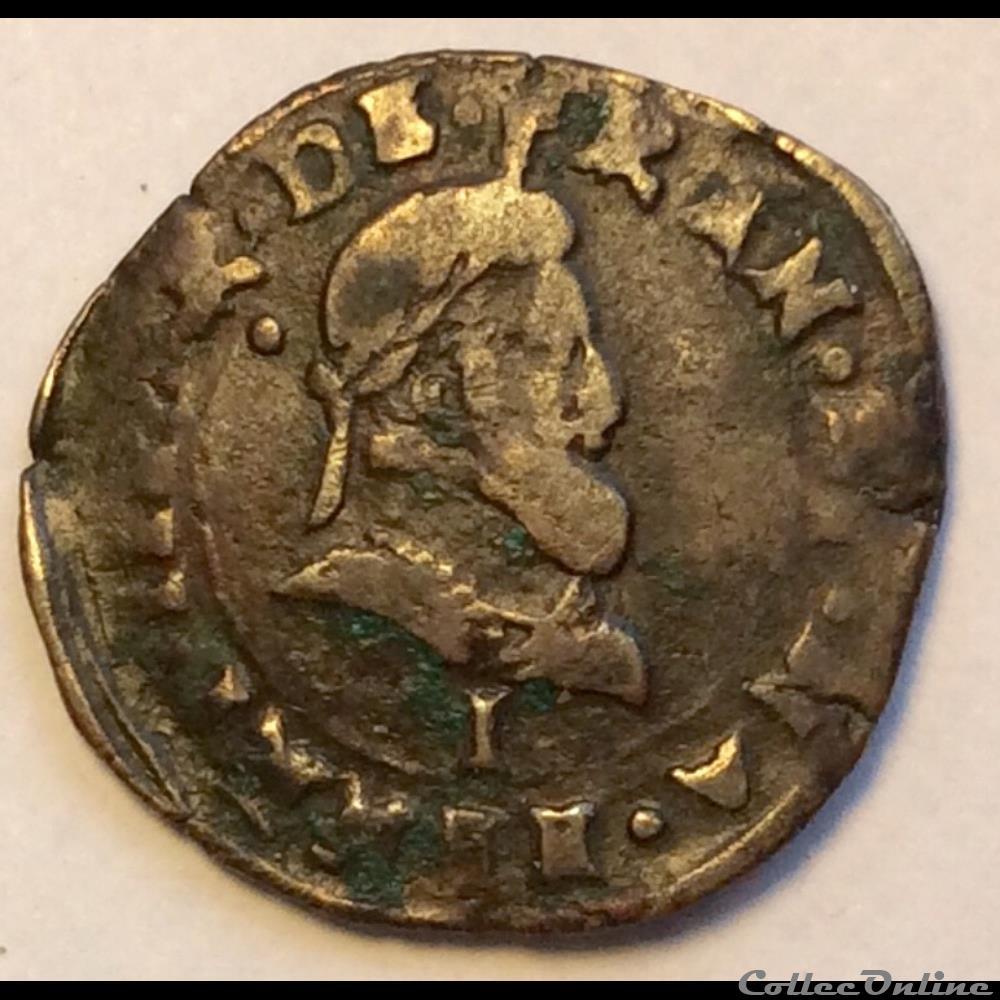 monnaie france royale double tournois 1594 i limoges henri iiii cgkl 198