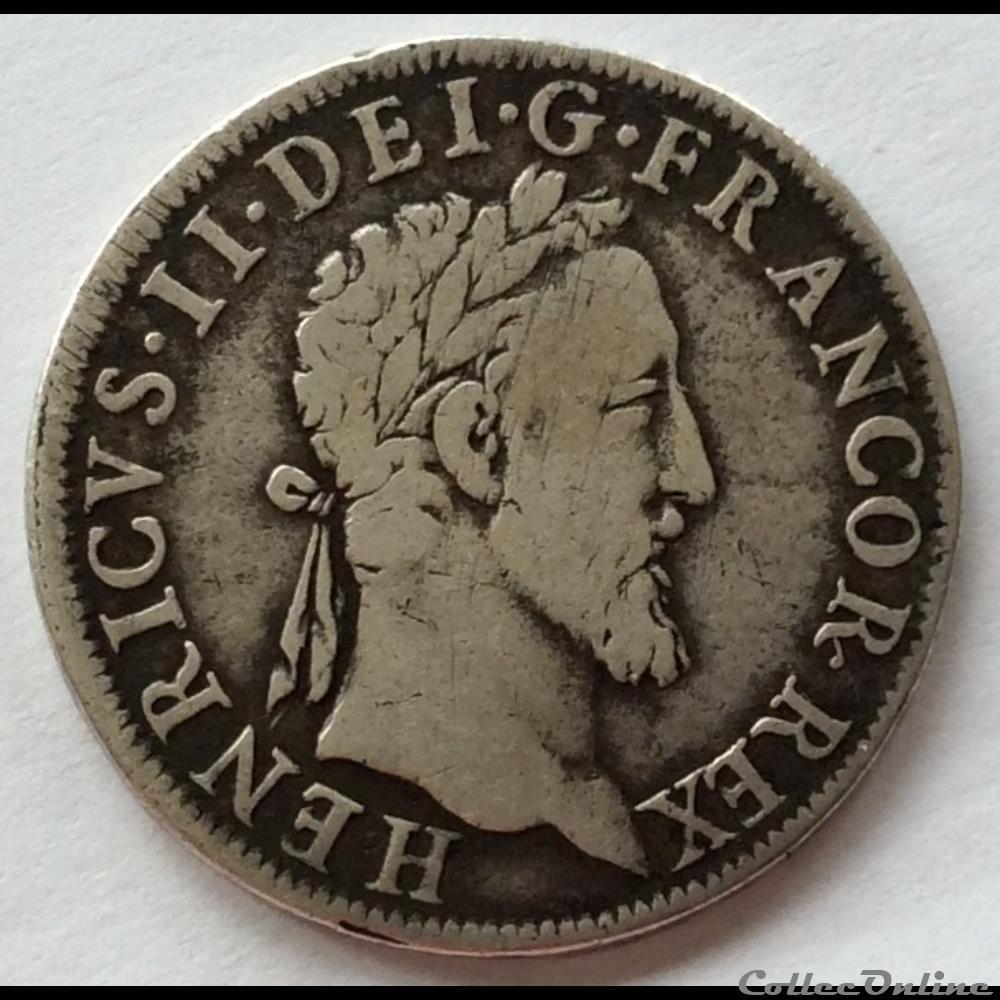 monnaie france royale henri ii teston au moulin de paris 1553 a