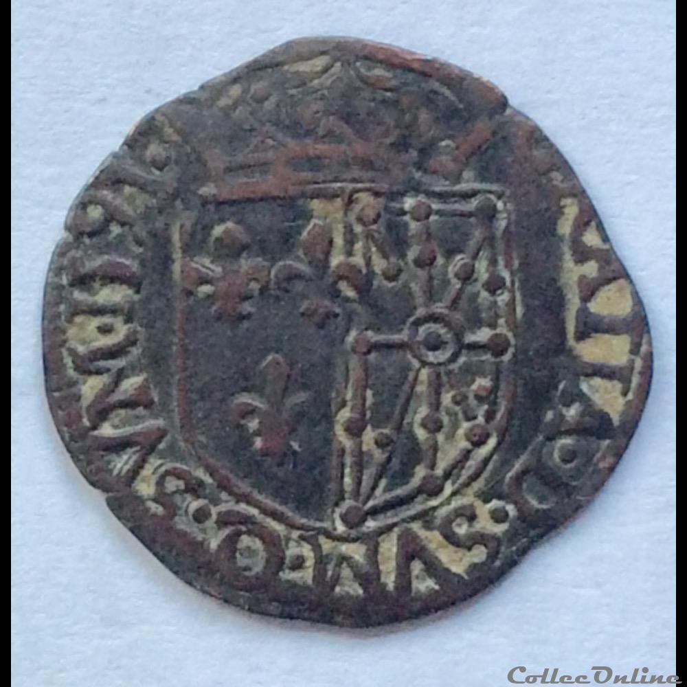 monnaie france royale douzain de navarre henri iiii 1591 saint palais