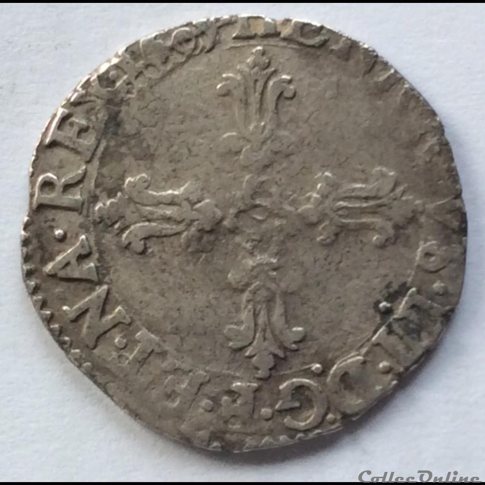 monnaie france royale huitieme d ecu henri iiii 1609 h la rochelle
