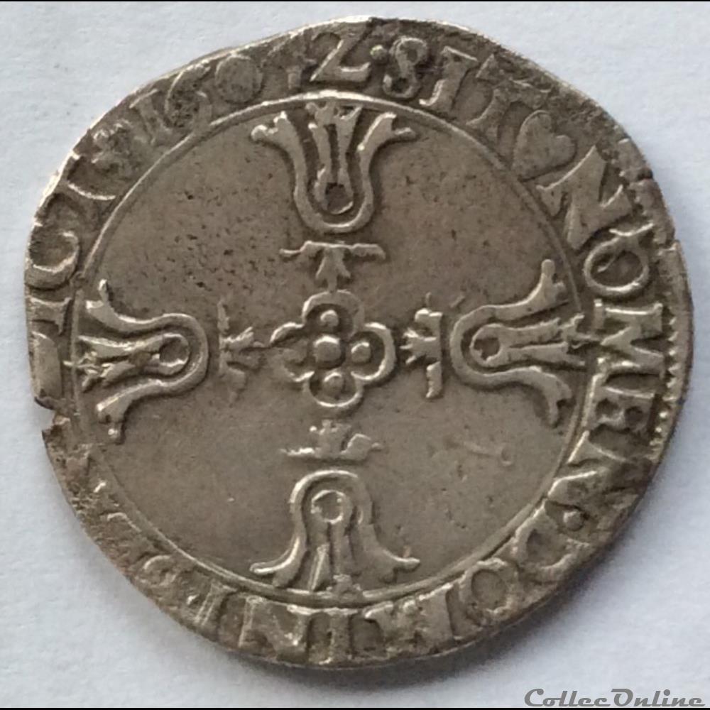 monnaie france royale quart ecu du dauphine 1604 grenoble