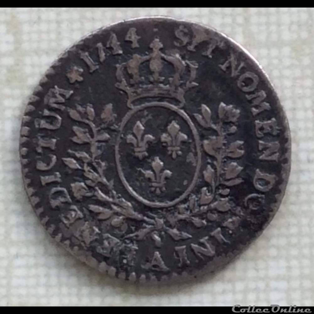 monnaie france royale vingtieme d ecu au bandeau louis xv 1744 a paris