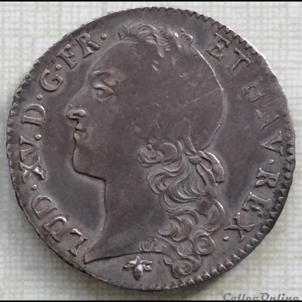 monnaie france royale demi ecu au bandeau louis xv 1766 h la rochelle