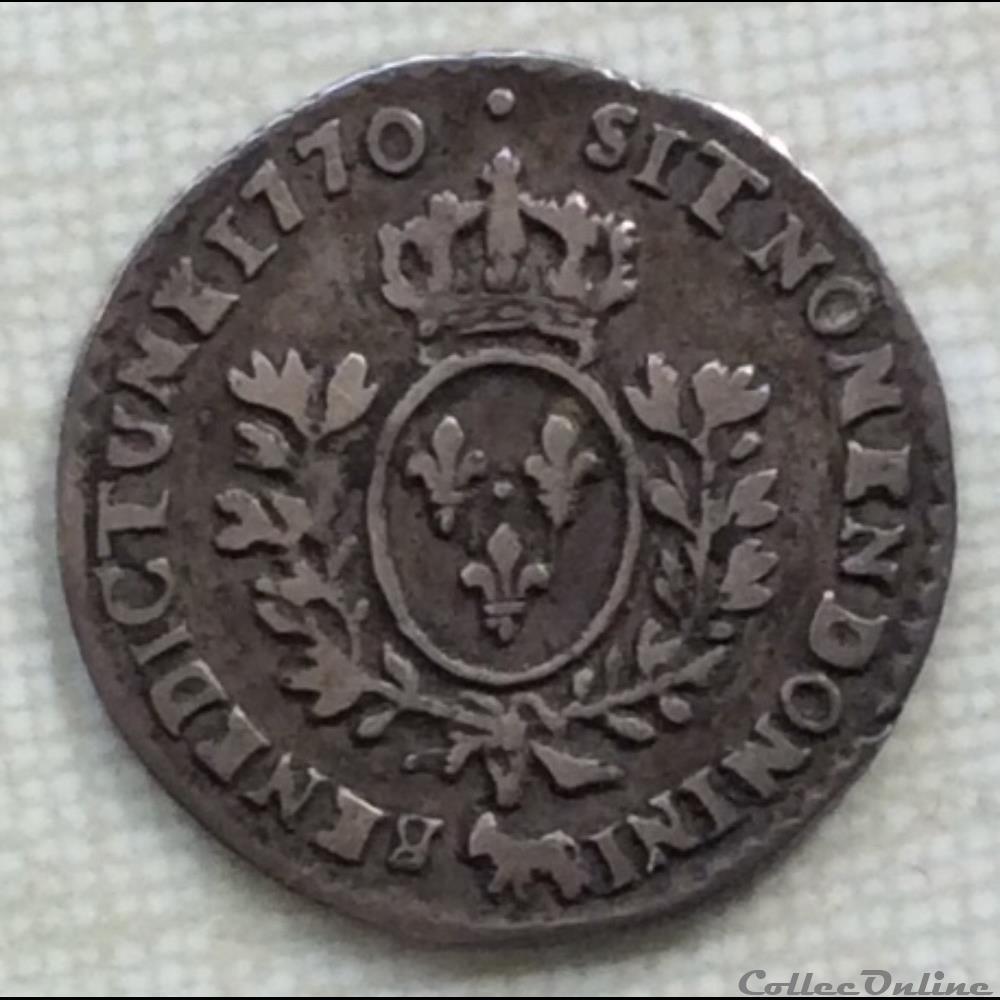 monnaie france royale vingtieme d ecu au bandeau de bearn louis xv 1770 vachette pau