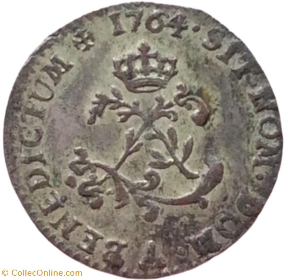 monnaie france royale double sol en billon louis xv 1764 a paris