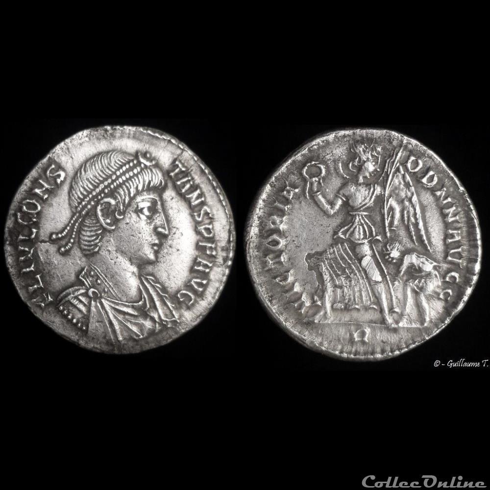 monnaie antique romaine constans silique lourde ou argenteus