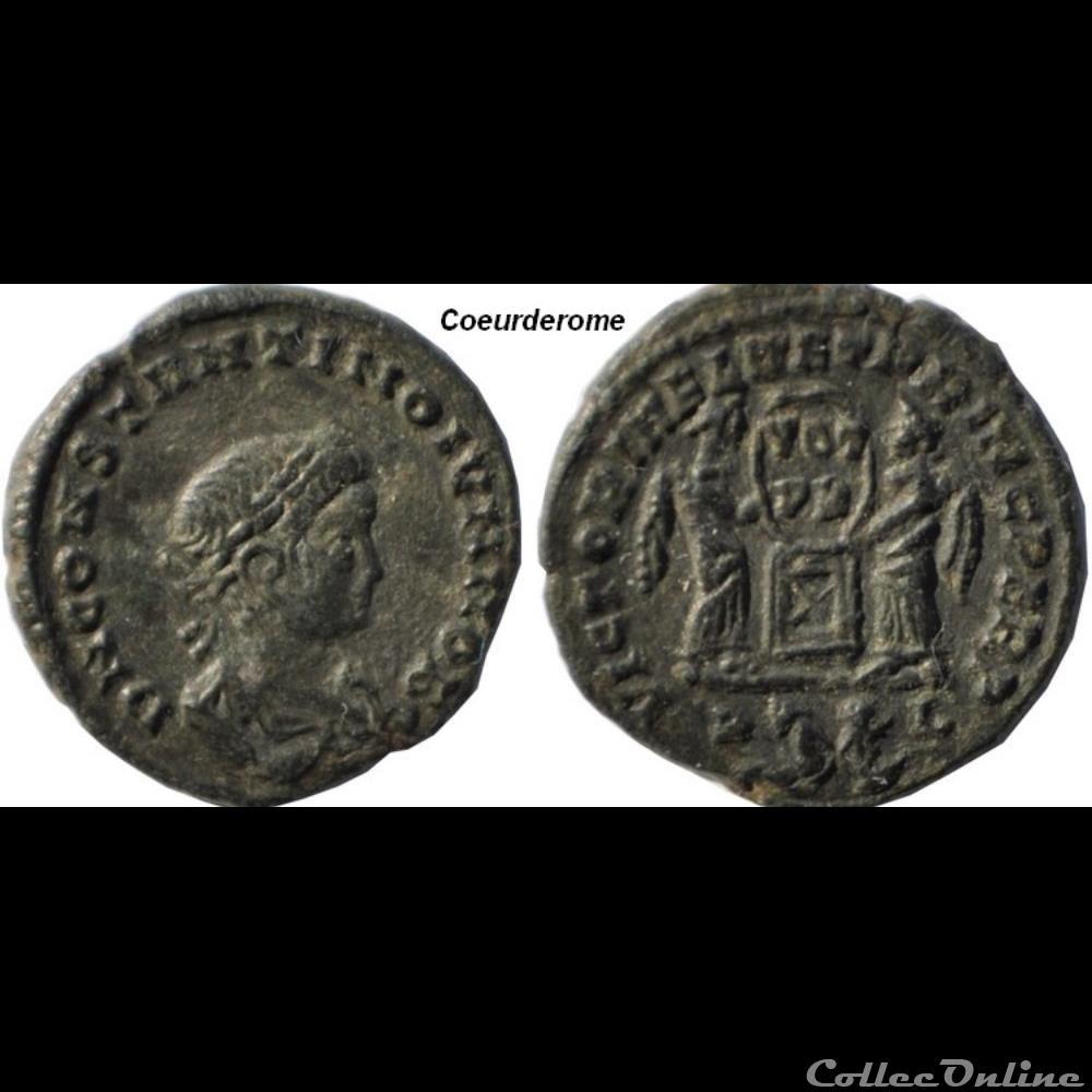 monnaie antique romaine nummus constantin ii