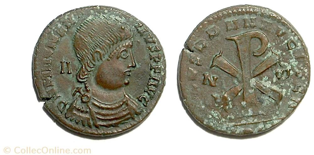 munzen antike vor j bi nach romische salvs dd nn avg et caes imitation