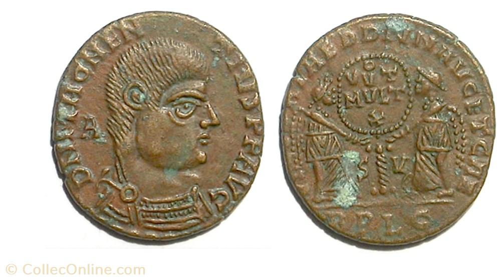 munzen antike vor j bi nach romische vict dd nn avg et caes lyon imitation