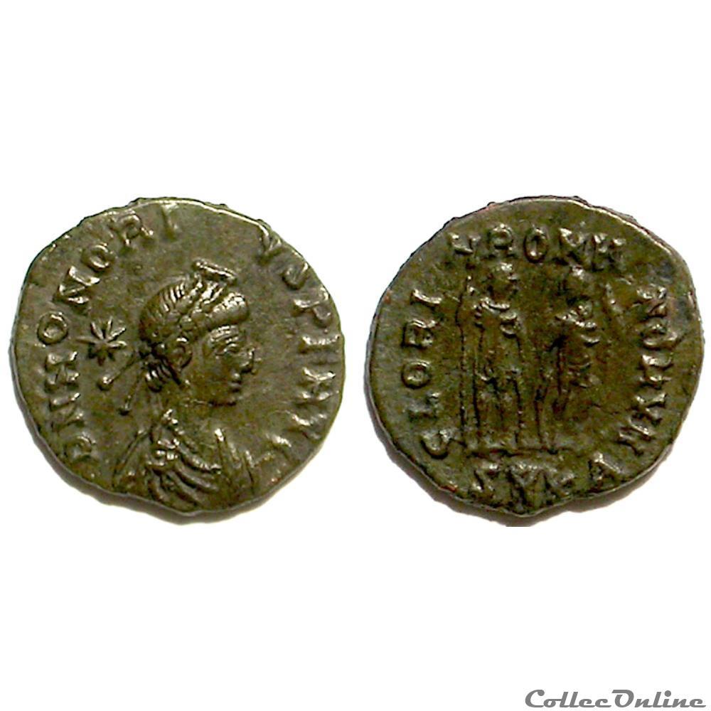 munzen antike vor j c bi nach honorius ae3 gloria romanorvm