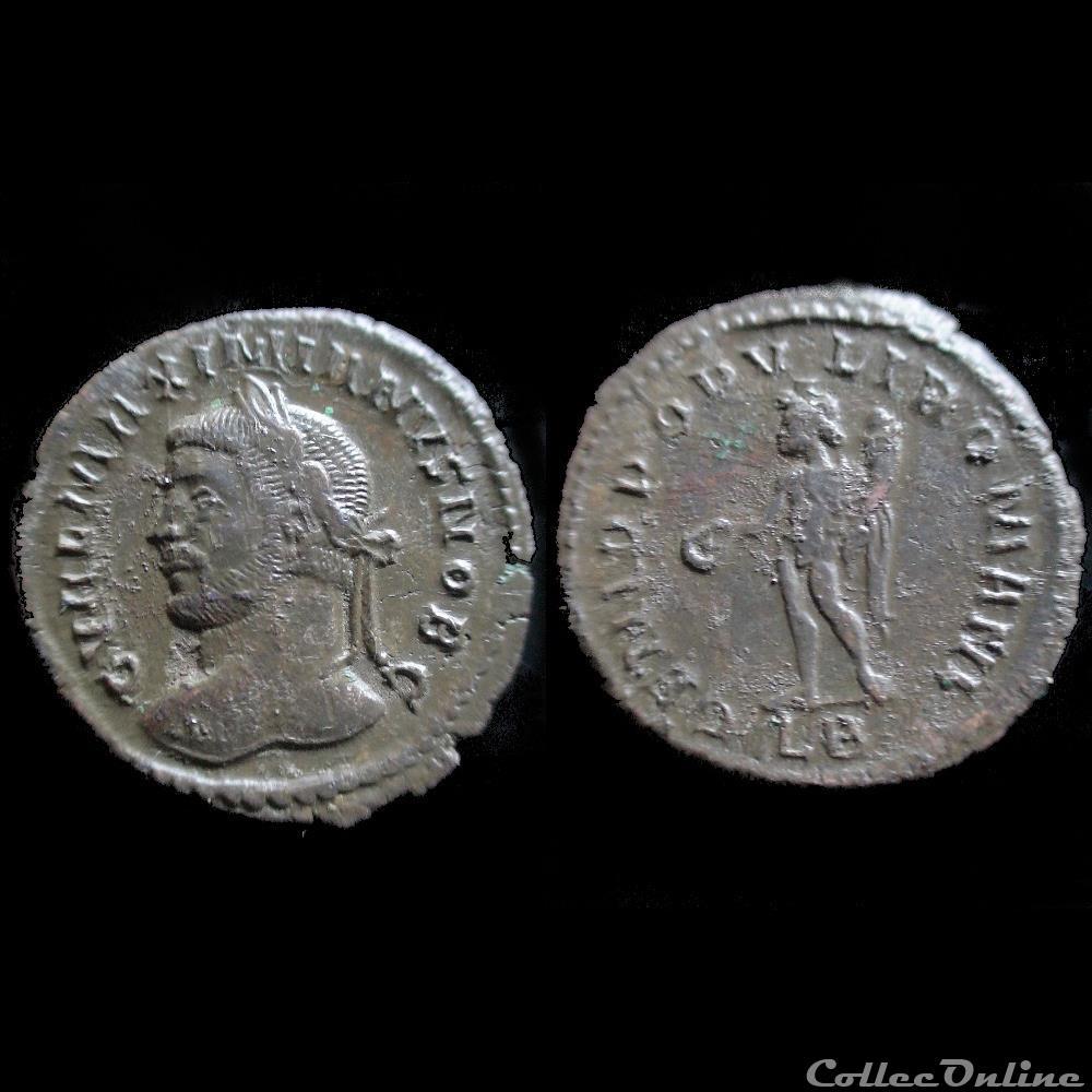 monnaie antique romaine follis galere 295 lyon lb