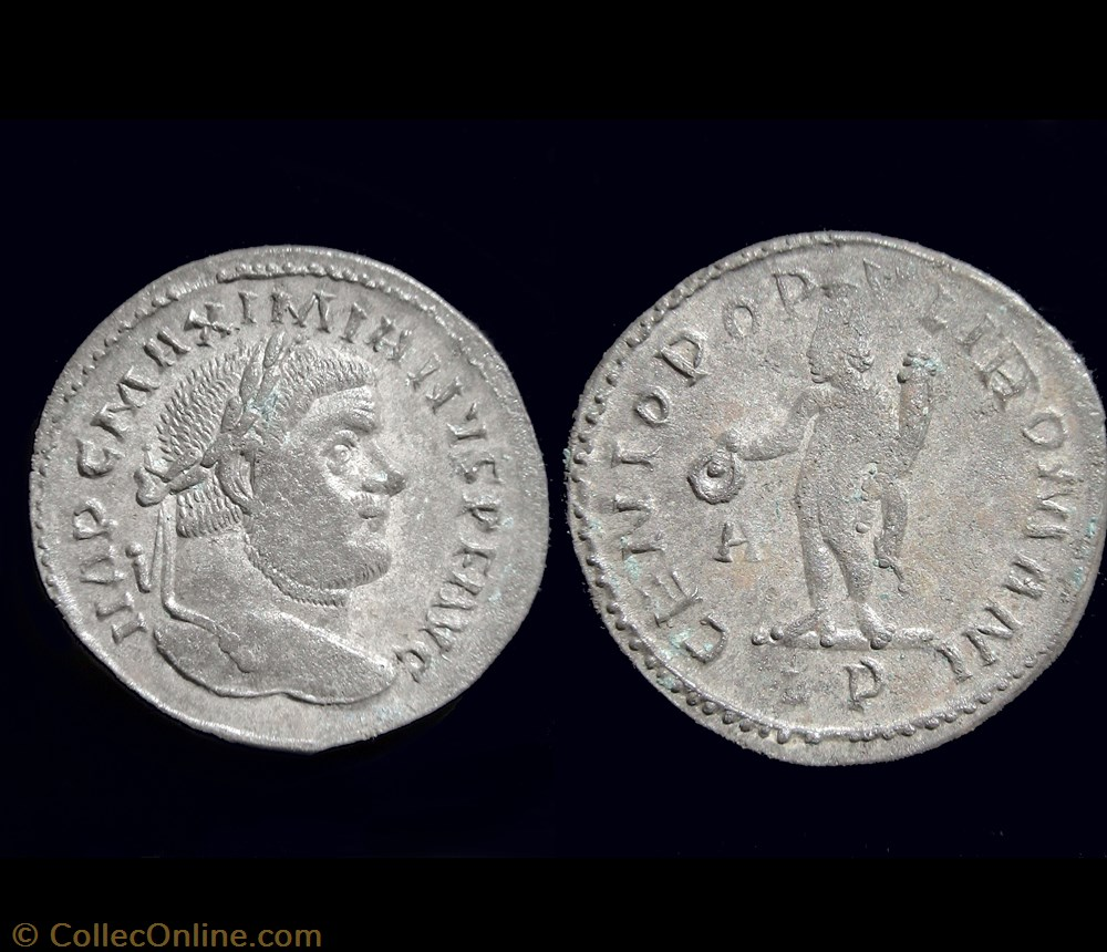 monnaie antique av jc ap romaine follis maximien hercule 297 lyon lp a