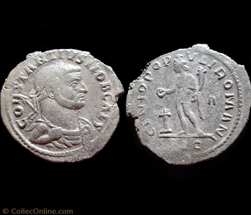 monnaie antique av jc ap romaine follis constance i chlore 300 302 lyon plg a