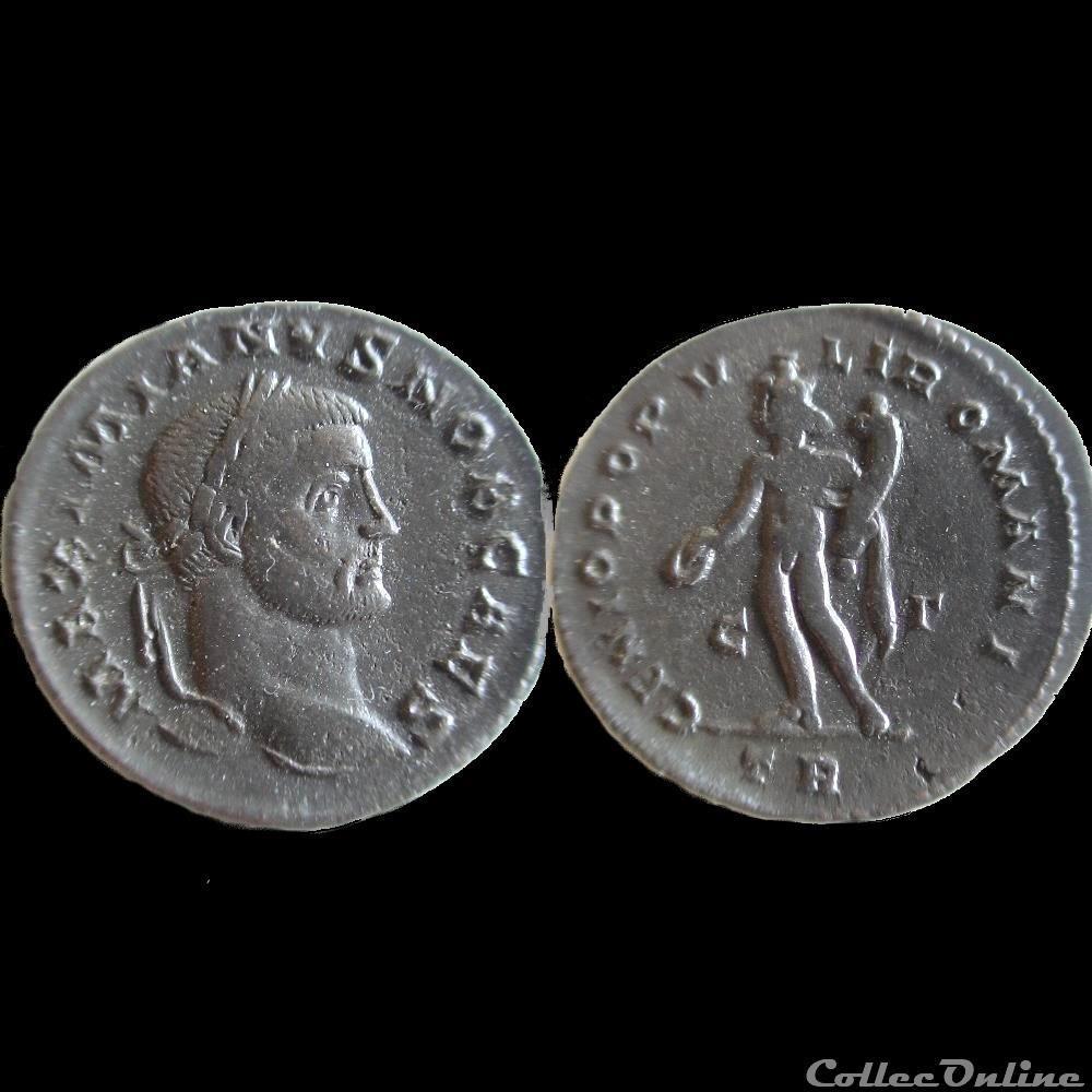 monnaie antique av jc ap romaine follis galere treves tr c r