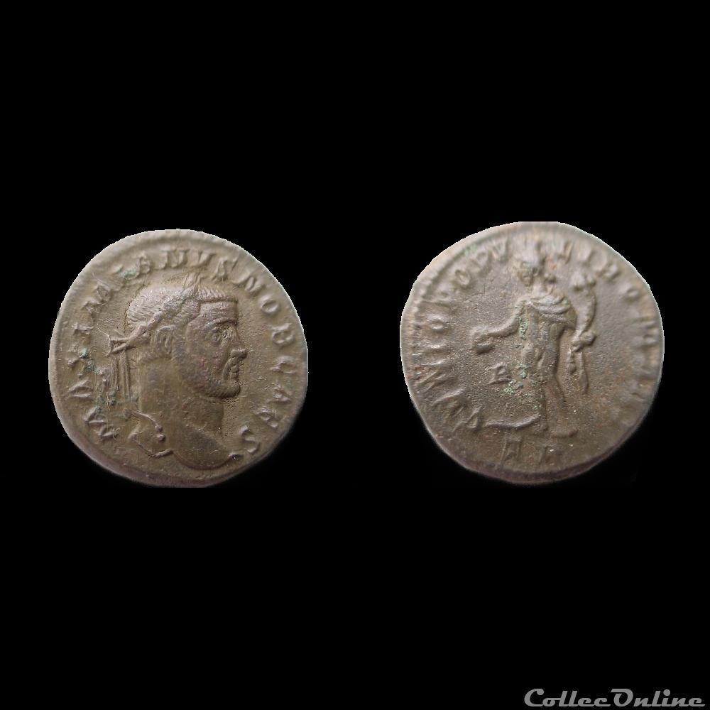 monnaie antique av jc ap romaine follis galere treves tr b