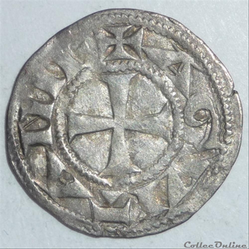 monnaie france feodale richard 1er coeur de lion 1169 1189 denier