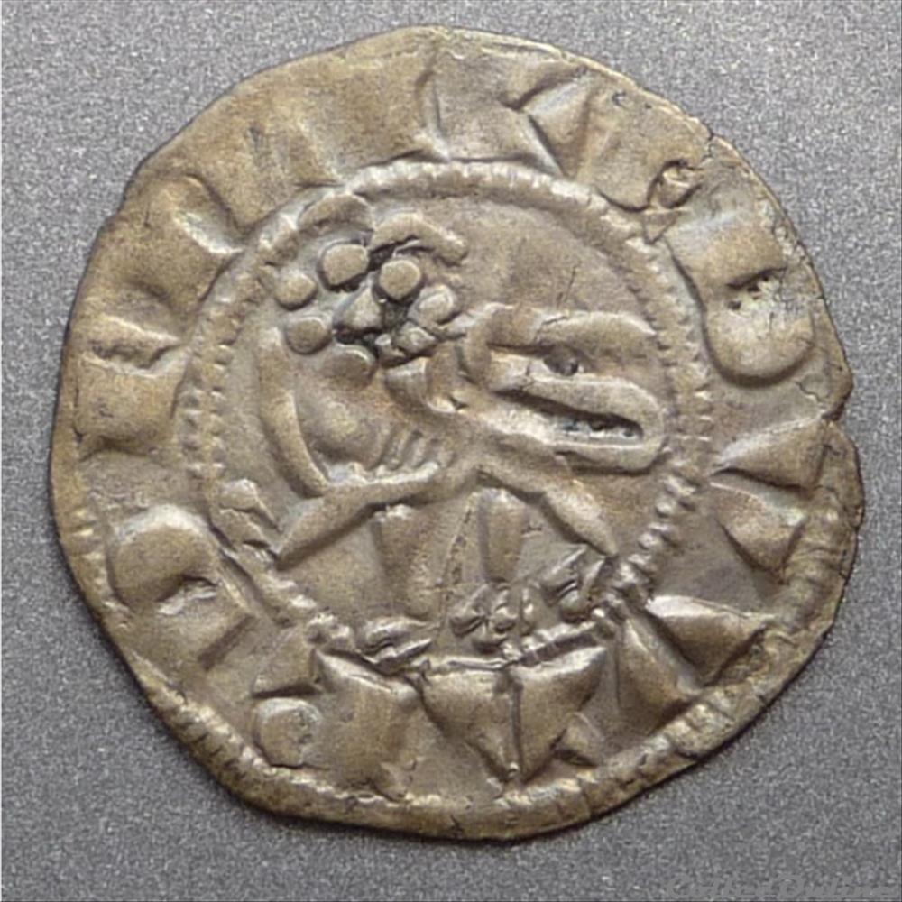 monnaie france feodale edouard 1er prince heritier 1252 1272 denier