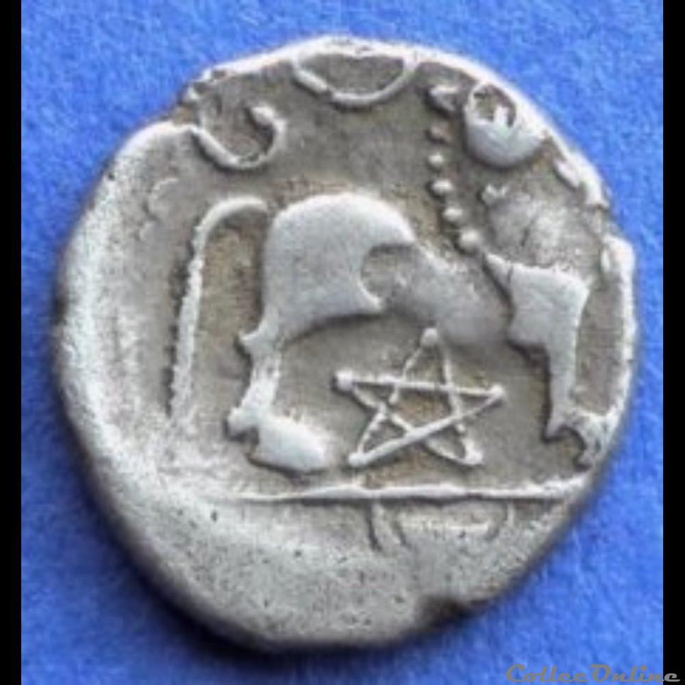 monnaie antique gauloise serie 83 dt 640 quinaire atevla vlatos au pentacle