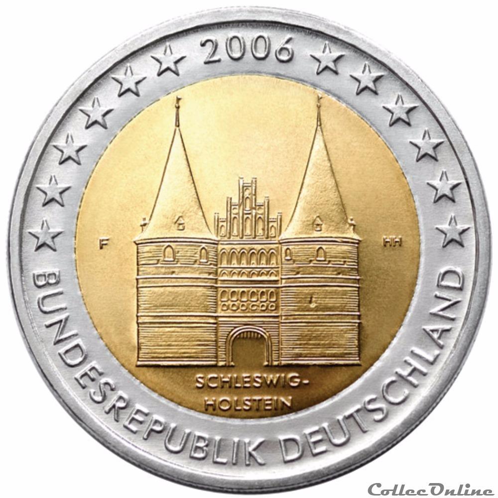 monnaie euro allemagne holstentor porte emblematique de la ville de lubeck 2004