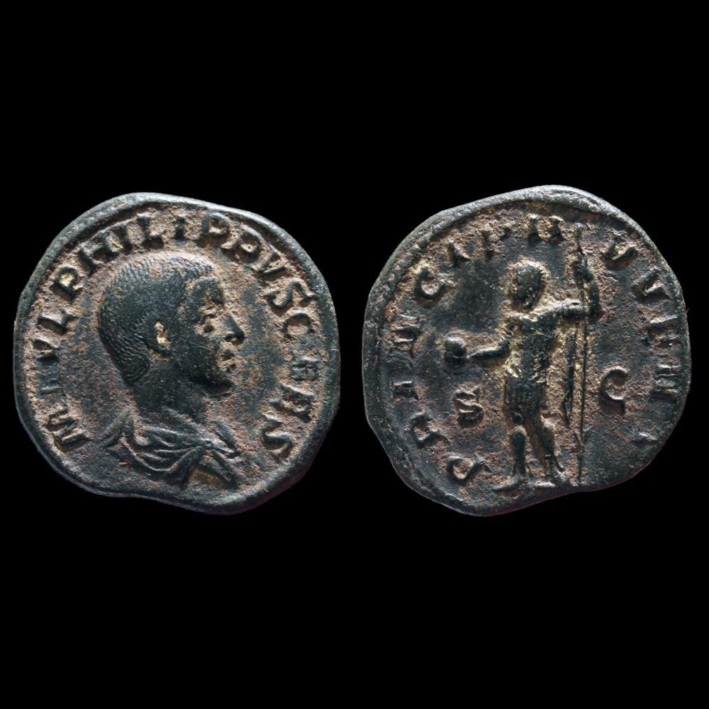 monnaie antique romaine philippe ii sesterce