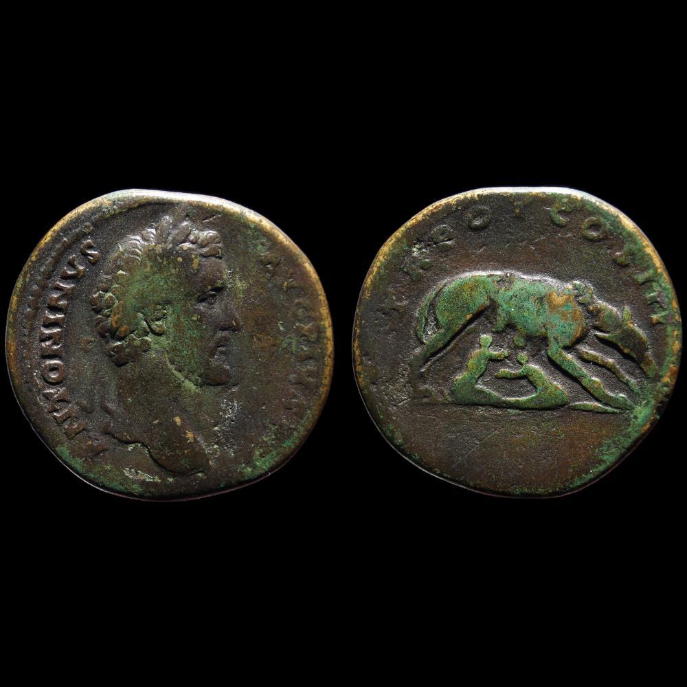 monnaie antique romaine antonin le pieux sesterce