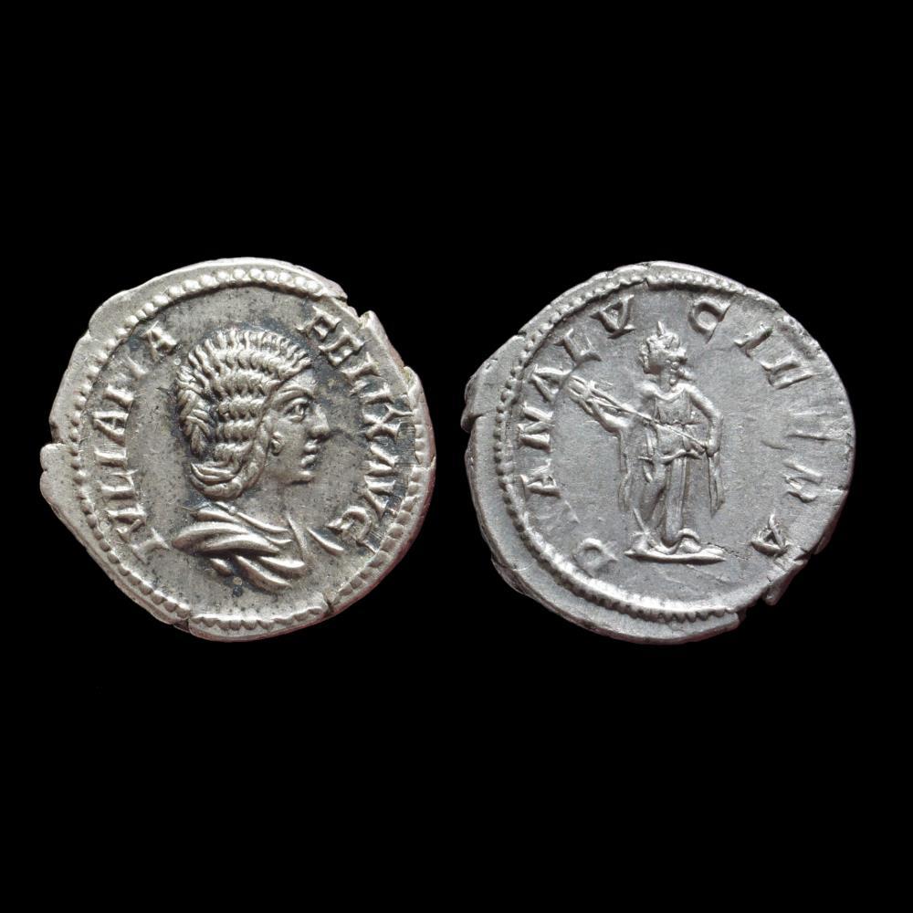monnaie antique romaine julia domna denier