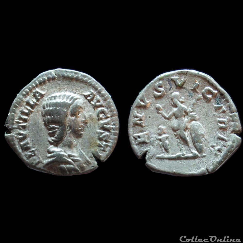 monnaie antique romaine plautille denier