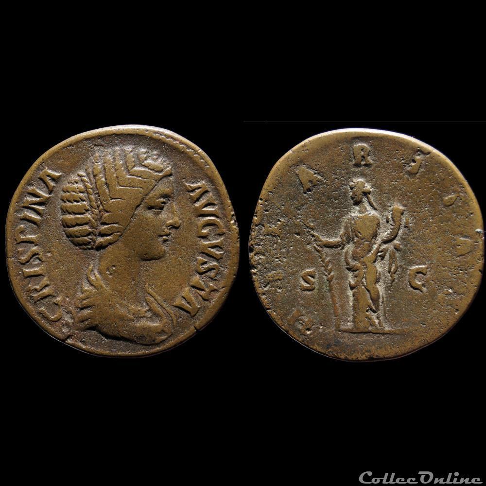 monnaie antique romaine crispine sesterce