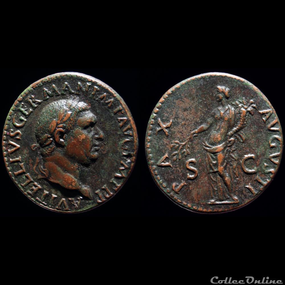 monnaie antique romaine vitellius as