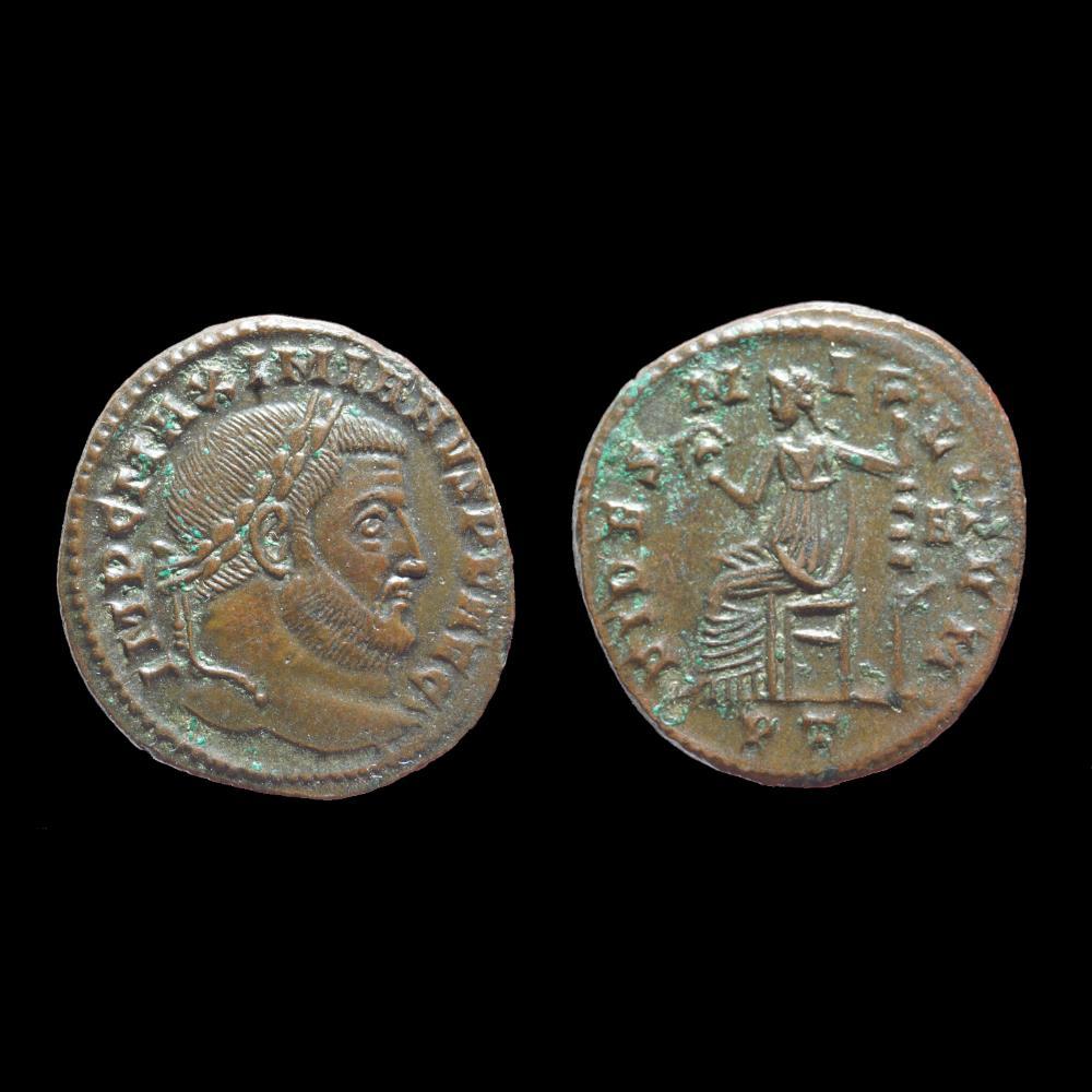 monnaie antique romaine galere follis ou nummus